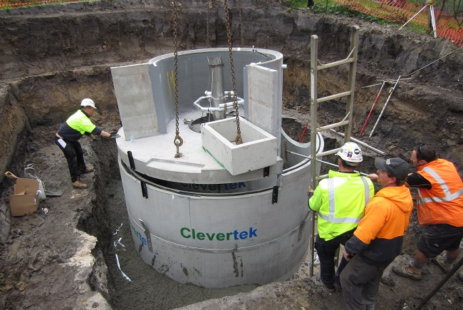 Clevertek provided a DSF GPT for the Chelsworth Park SWH Project.  The GPT captures 97% of pollutants, such as floatable litter from the  stormwater.