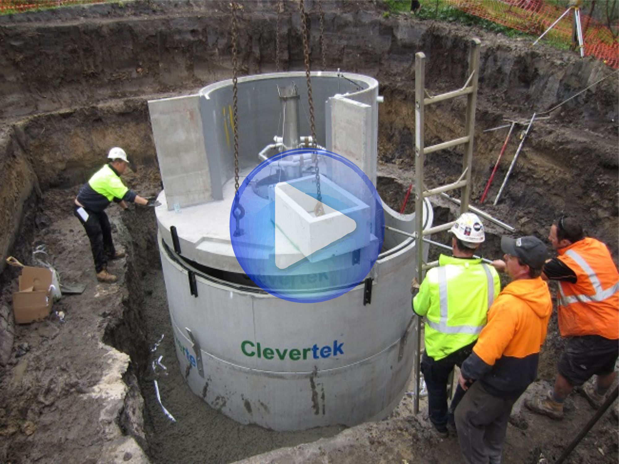 Clevertek CLT-004P Dragon Scale Filtration (DSF) Gross Pollutant Trap (GPT) Stormwater Treatment Installation